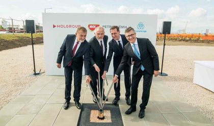 The foundation stone for polyol complex – MOL's 1,2 billion EUR petrochemical investment - has been laid in Tiszaújváros
