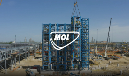 DELIVERY ON THE TISZA RIVER FOR MOL POLYOL'S INVESTMENT COMPLETED